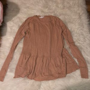 Adorable long sleeve shirt! Blush pink XS!